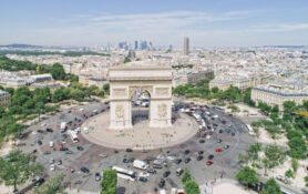 Arkitektur byplanlegging Paris detaljer bygninger Triumfbuen