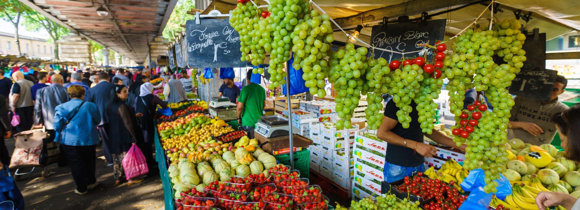 Matmarked Paris tips anbefalt de beste marked frukt