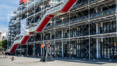 Centre Pompidou Paris Frankrike museum kunst