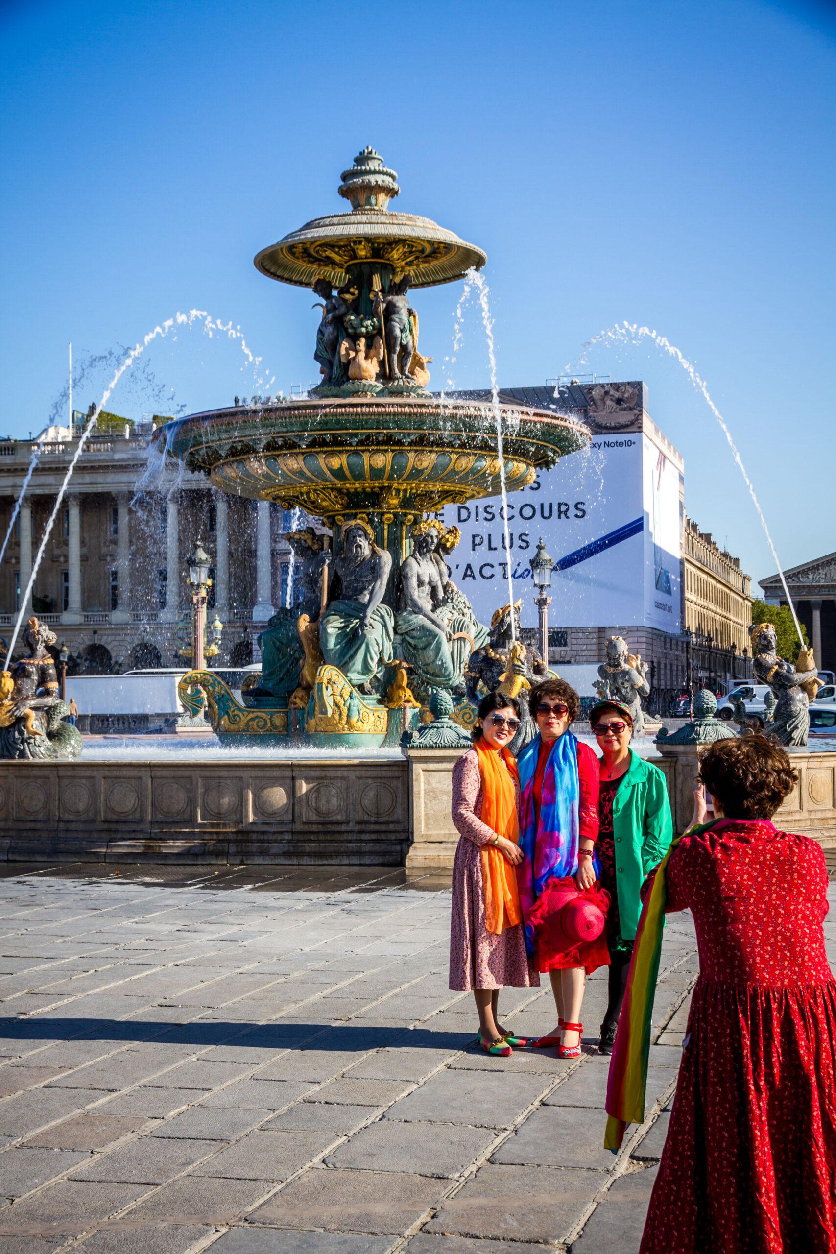 Concorde plassen Paris fontene statue