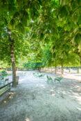 Jardin de Tuileries-parken Paris Parc grontomrade stoler stier benker park