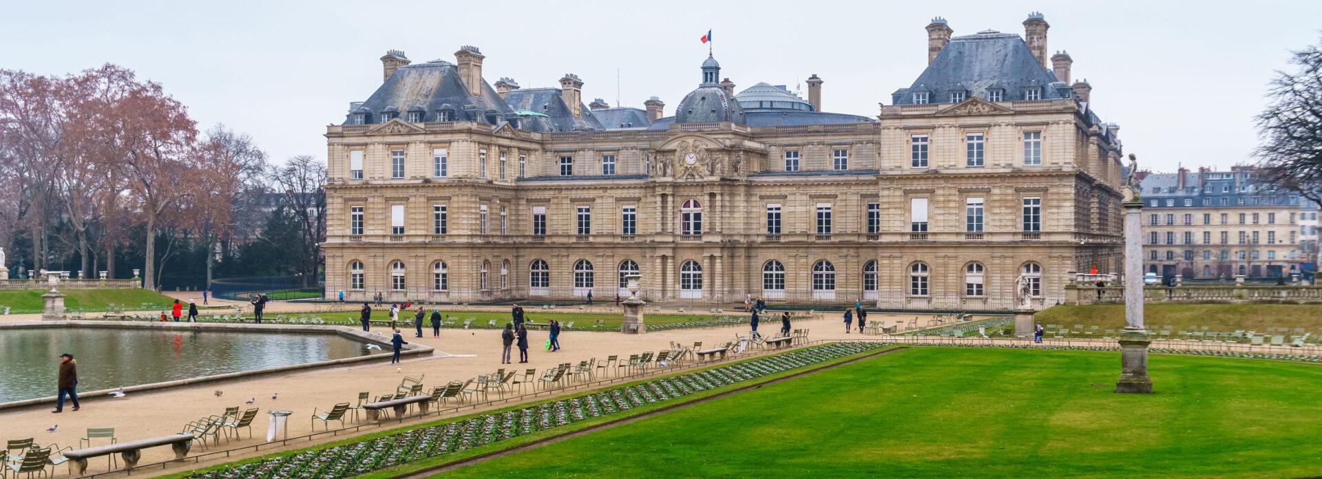 Jardin du Luxembourg slott Paris besoke severdighet attraksjon