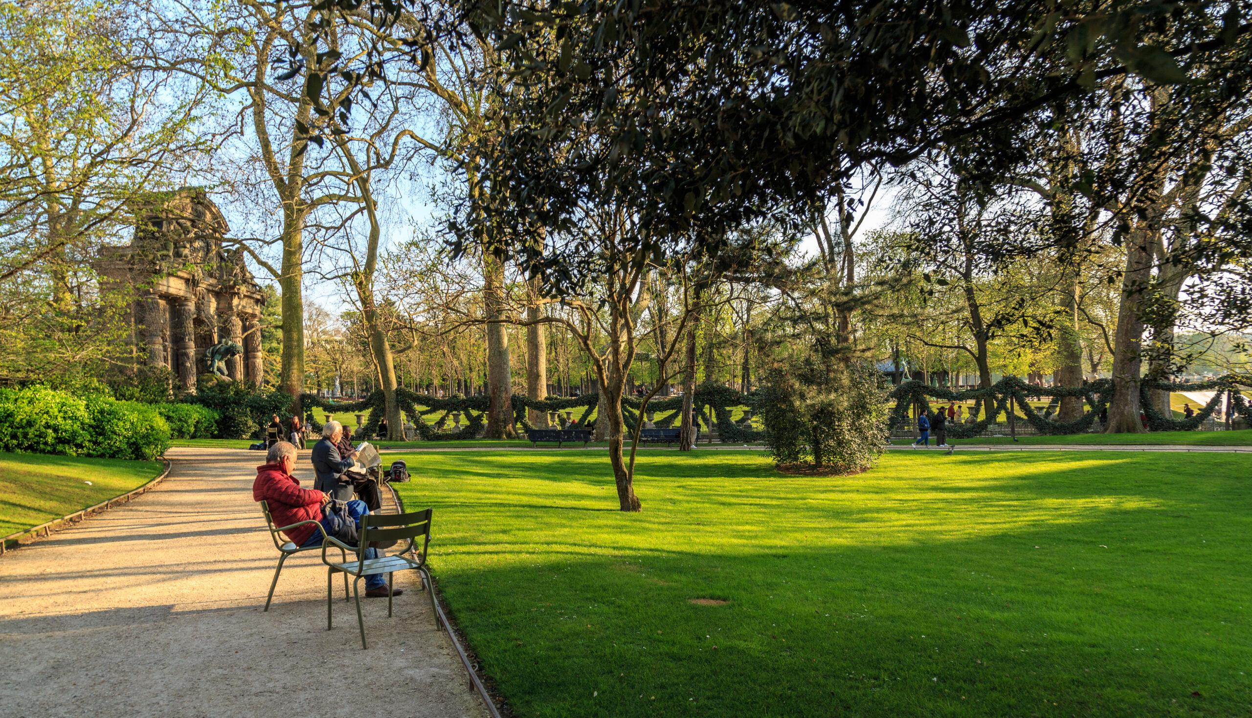 Jardin du Luxembourg slott Paris besoke severdighet hage park