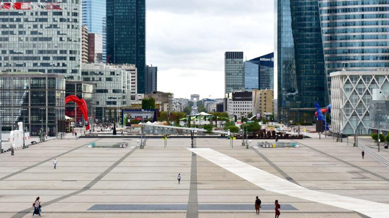 La Defense finansdistrikt Paris Frankrike