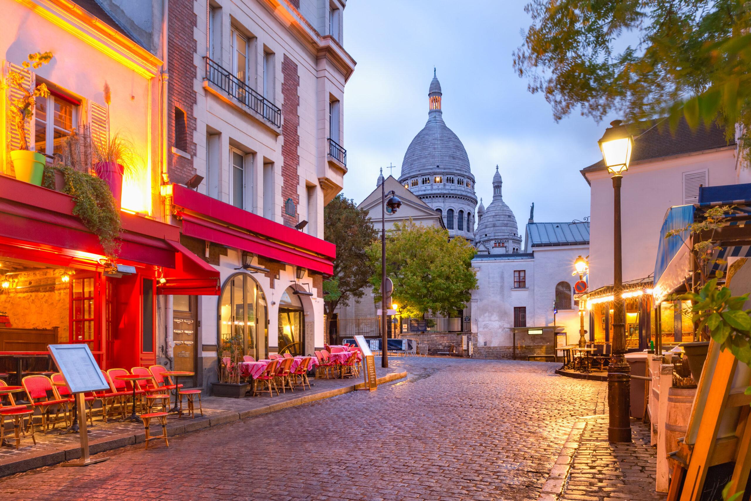 Sacre Coeur Montmartre Paris Frankrike bydel
