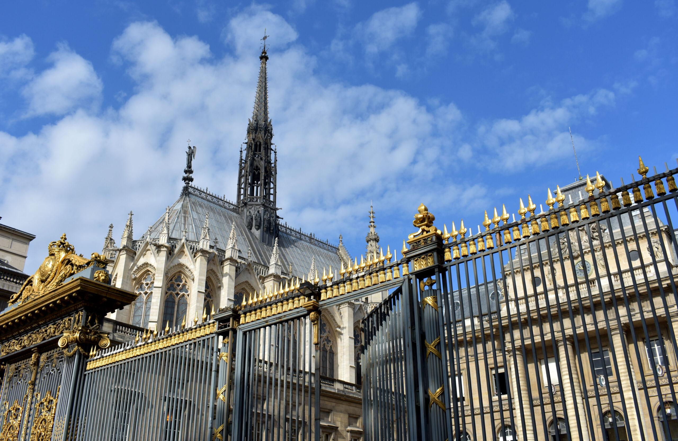Sainte-Chapelle Paris front gitter kirke bygning