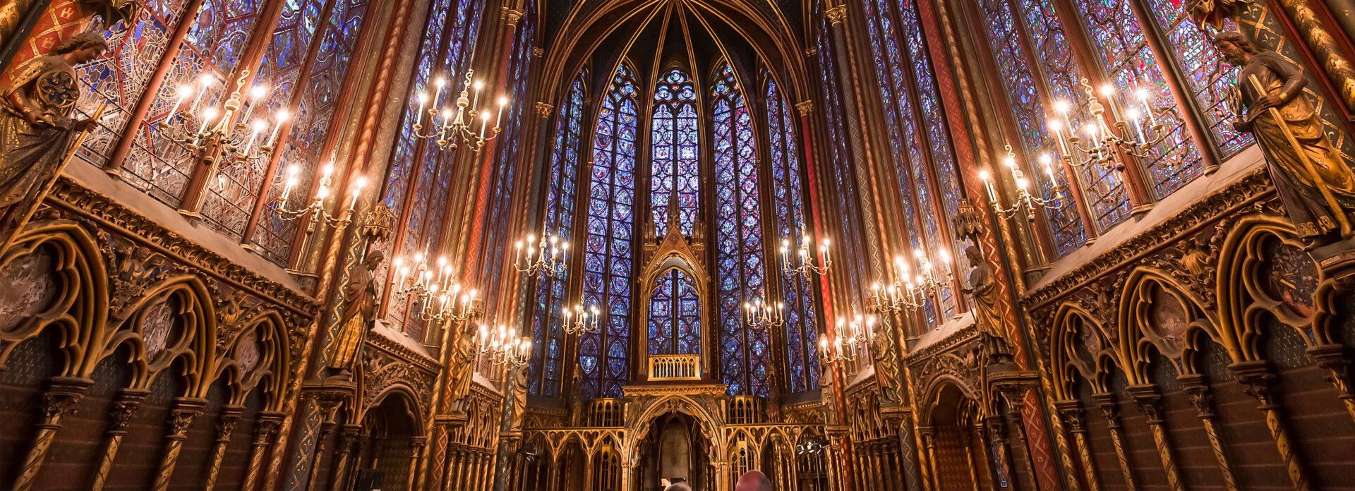Sainte-Chapelle Paris utside kirke bygning