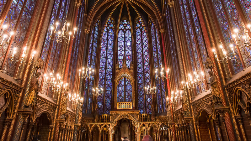Sainte-Chapelle Paris utside kirke bygning