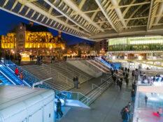 Forum des Halles kjopesenter Paris Frankrike shoppingsenter undergrunn