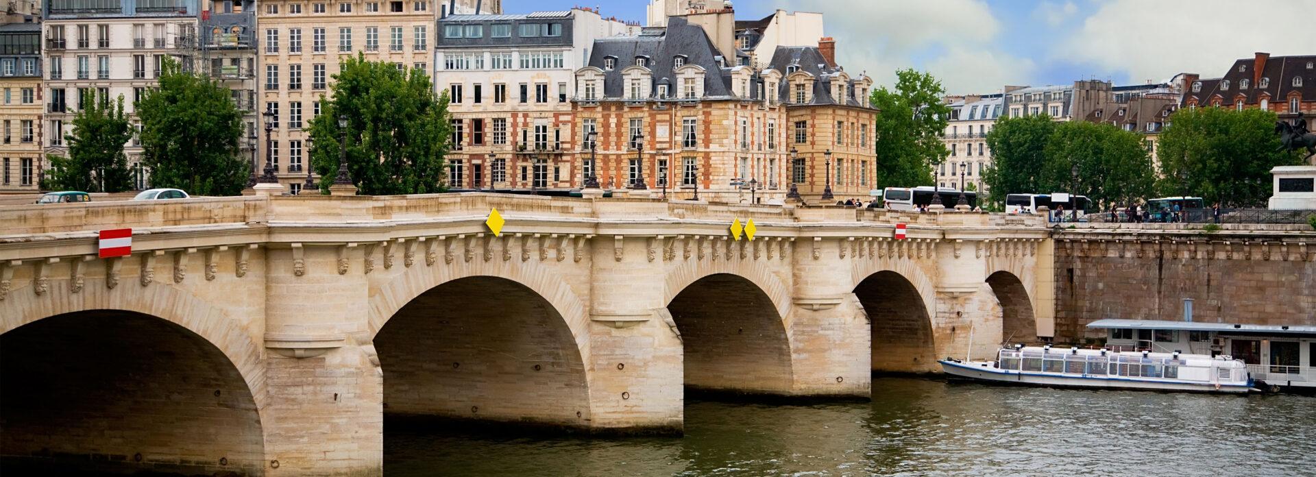 Pont Neuf Paris romantisk bro