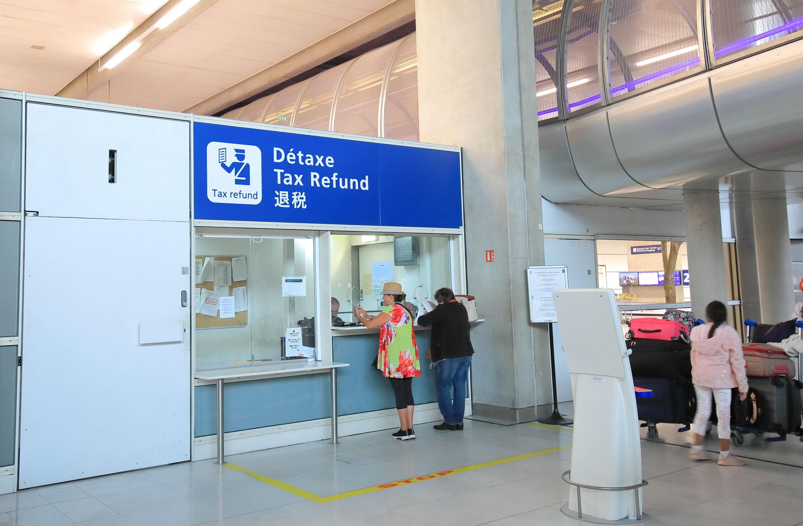 refusjon moms VAT flyplass Paris