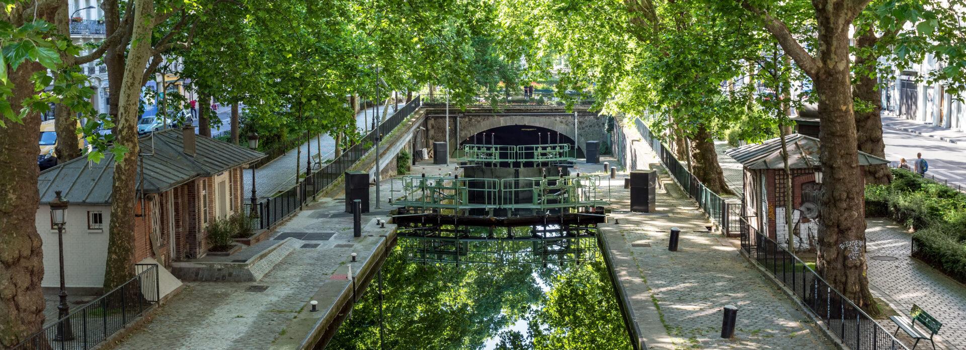 Canal Saint Martin Paris elvekanal kanal kjent severdighet