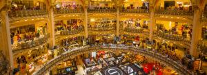 Galeries Lafayette Paris Frankrike shopping kjopesenter varehus