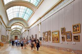 Louvre museum galleri kunst severdighet Paris