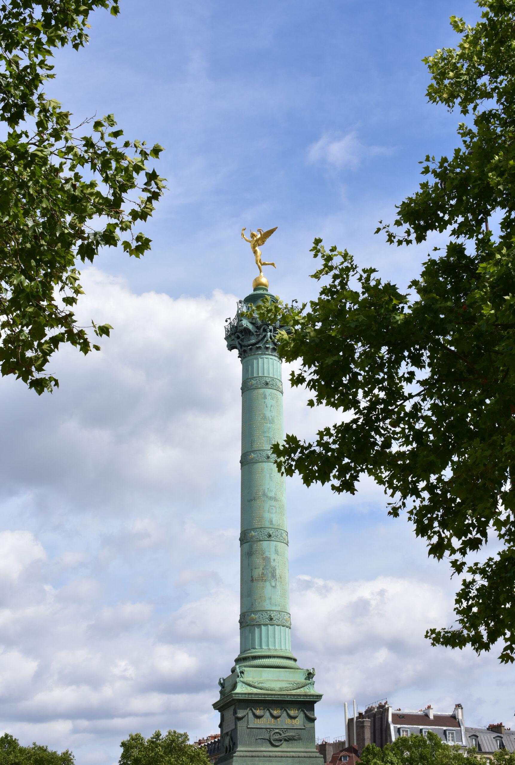 Place de la Bastille Paris plass bastillen pillar