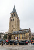 Saint Germain des Pres Paris kirke Frankrike gammel eldre historisk