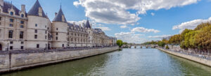 Seinen Paris hovedelv elv Frankrike bro