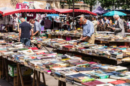 loppemarked Paris brukte boker bokmarked