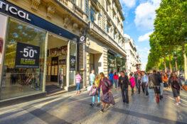 rabatt Paris butikker champs elysees shopping tips