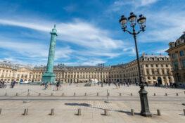 Place Vendome plass Paris Frankrike vakker bygning soyle