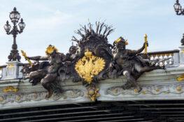Pont Alexandre III Paris bro design arkitektur utsmykning