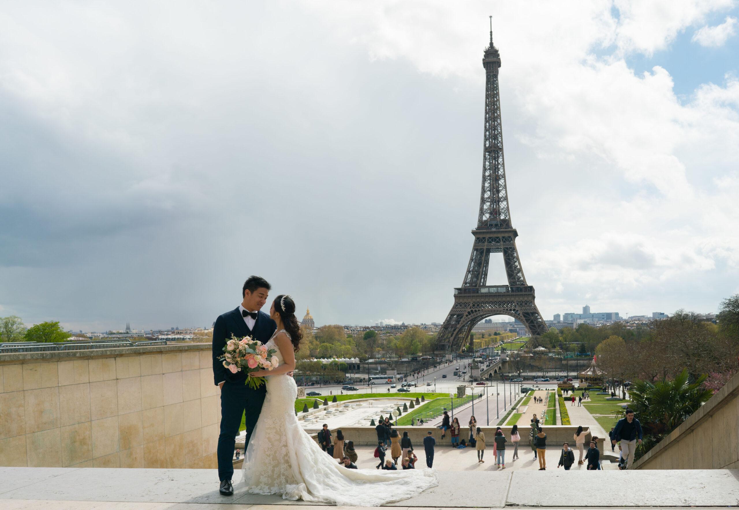 bryllup ved eiffeltarnet ta bryllupsbilder Paris