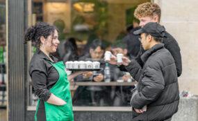 gratis smaksprover billig Paris Frankrike Starbucks kaffe