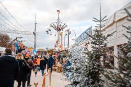 jul lulemarked Paris Frankrike sno boder markeder nyttarsaften