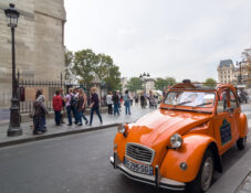 leie bil citroen 2cv guttetur jentetur Paris Frankrike