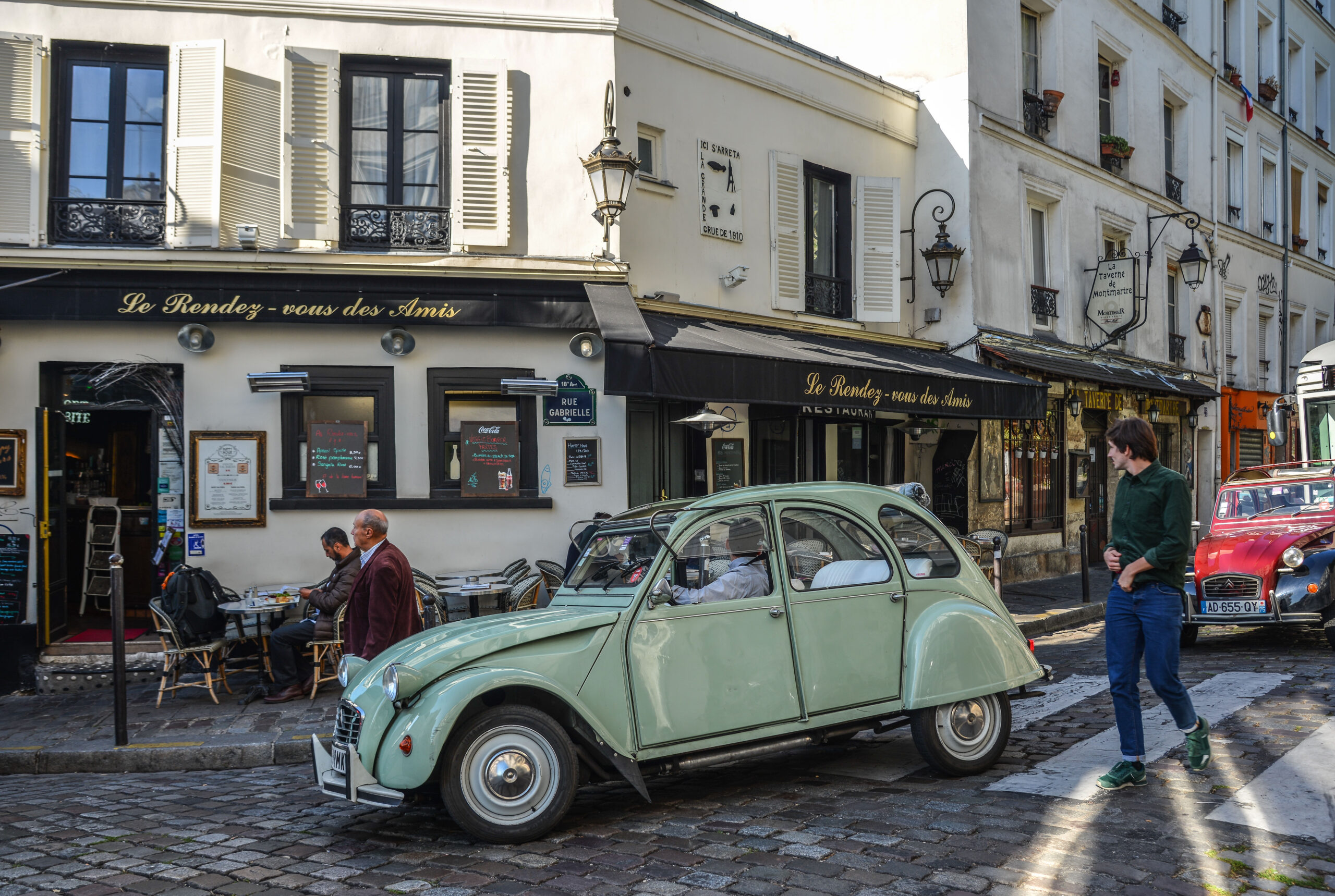 leie citroen 2CV i Paris Franrike for en dag helg