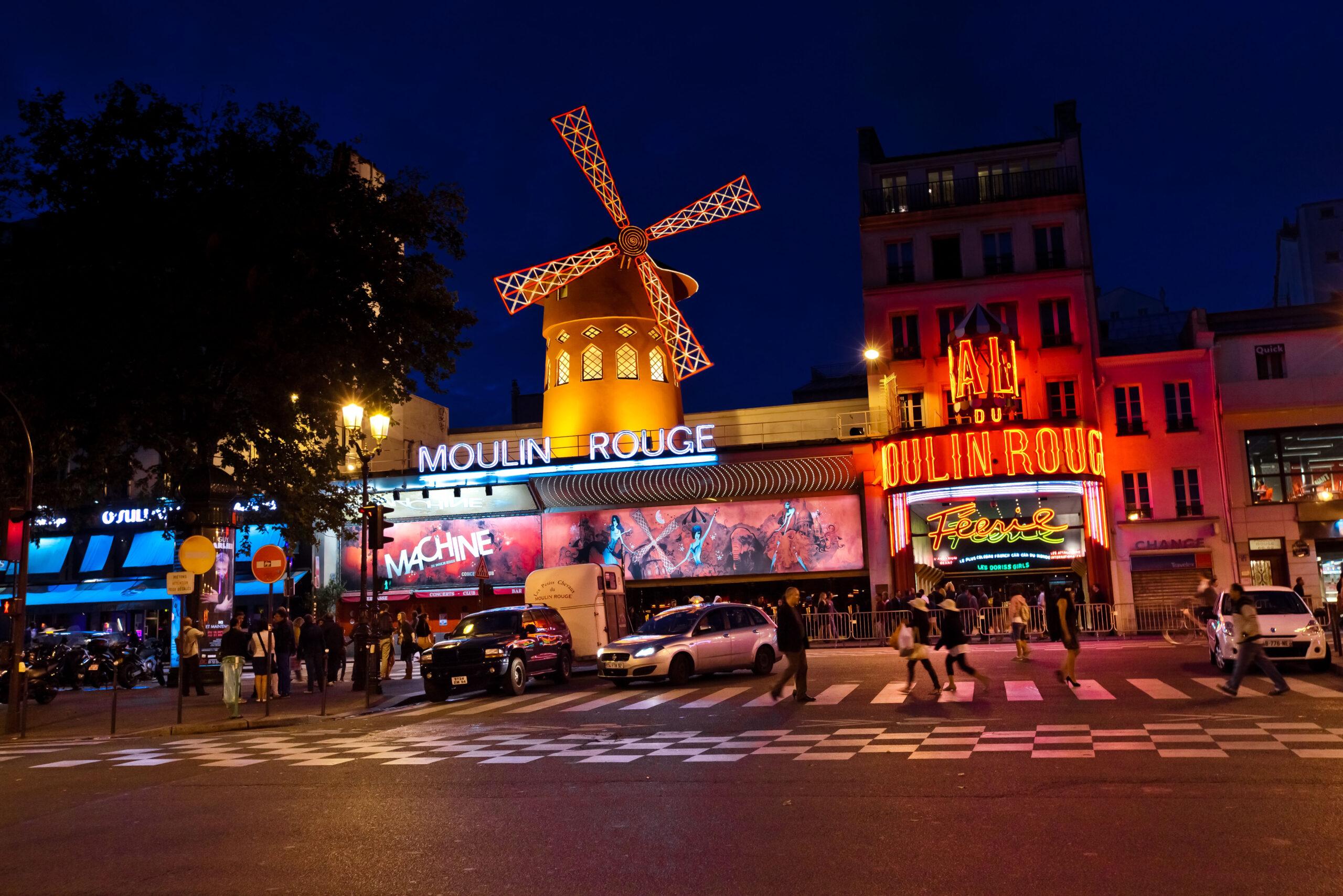 moulin rouge Paris attraksjon severdighet show for menn gutter