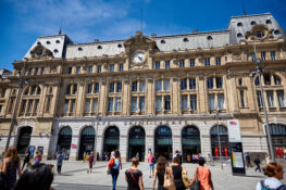 Gare Saint-Lazare Paris togstasjon tog jernbane Frankrike