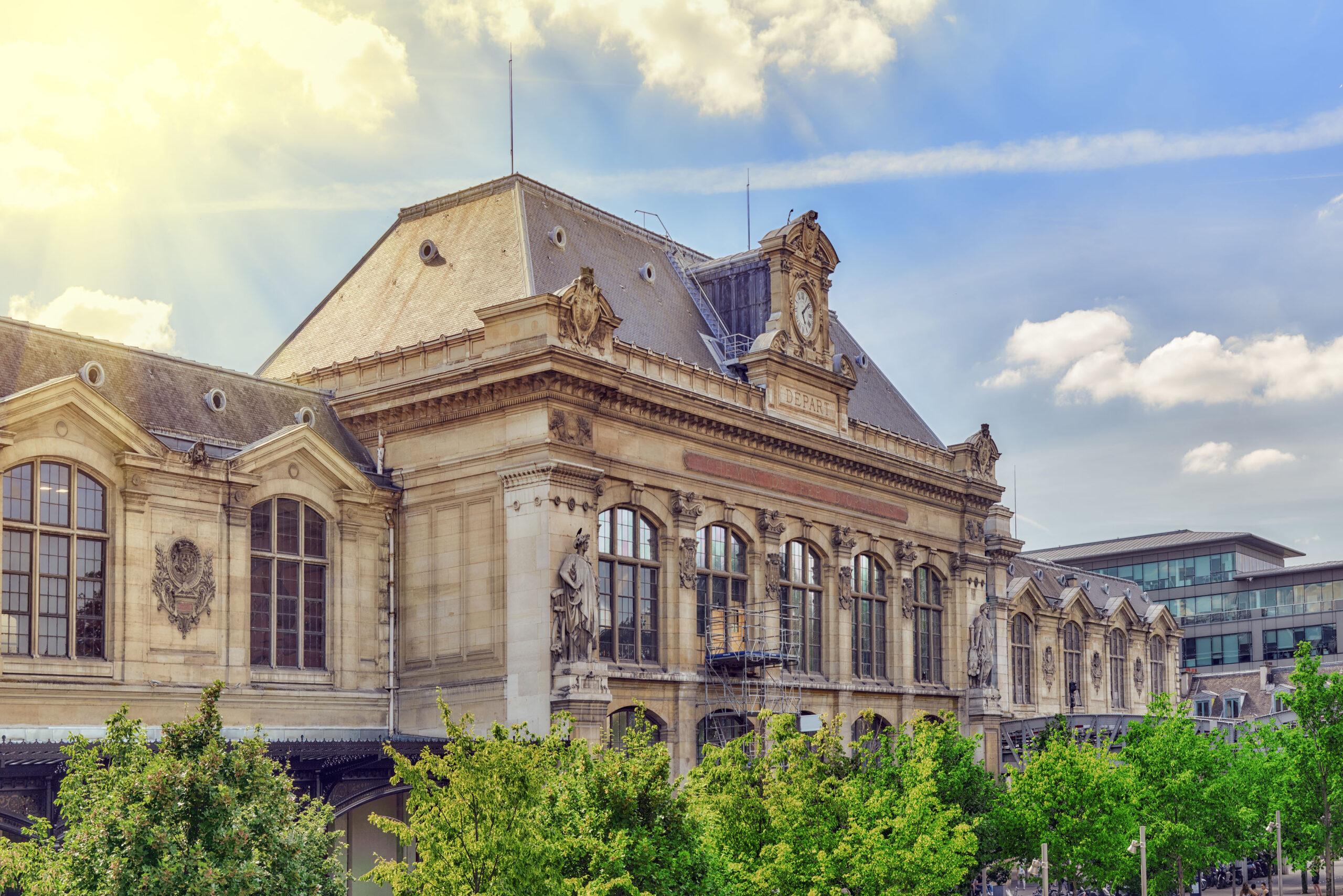 Gare d Austerlitz togstasjon tog jernbane Paris Frankrike