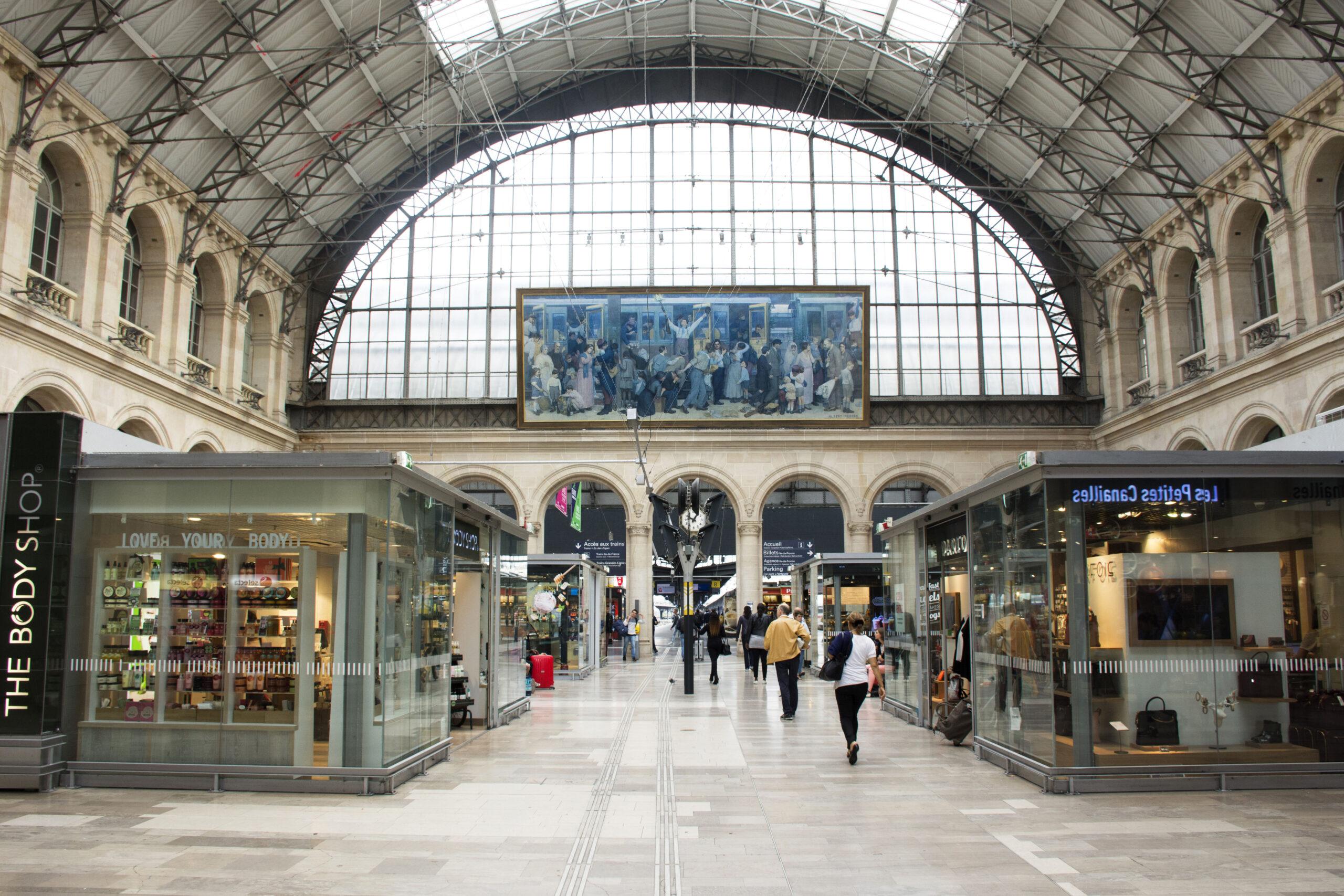 Gare de l Est Paris Frankrike togstasjon Frankrike tog avgang