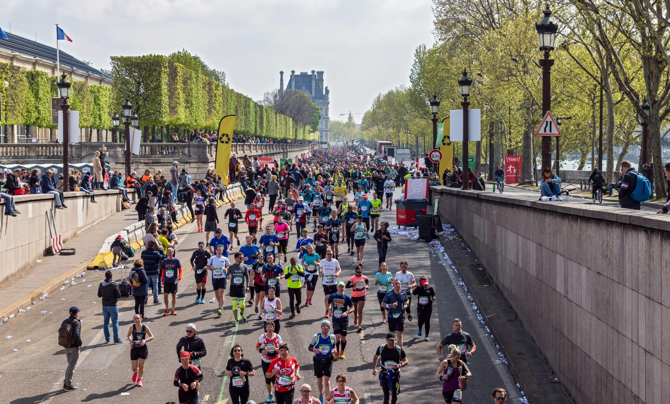 Paris maraton hvor gar den lengde meter antall loypetrase