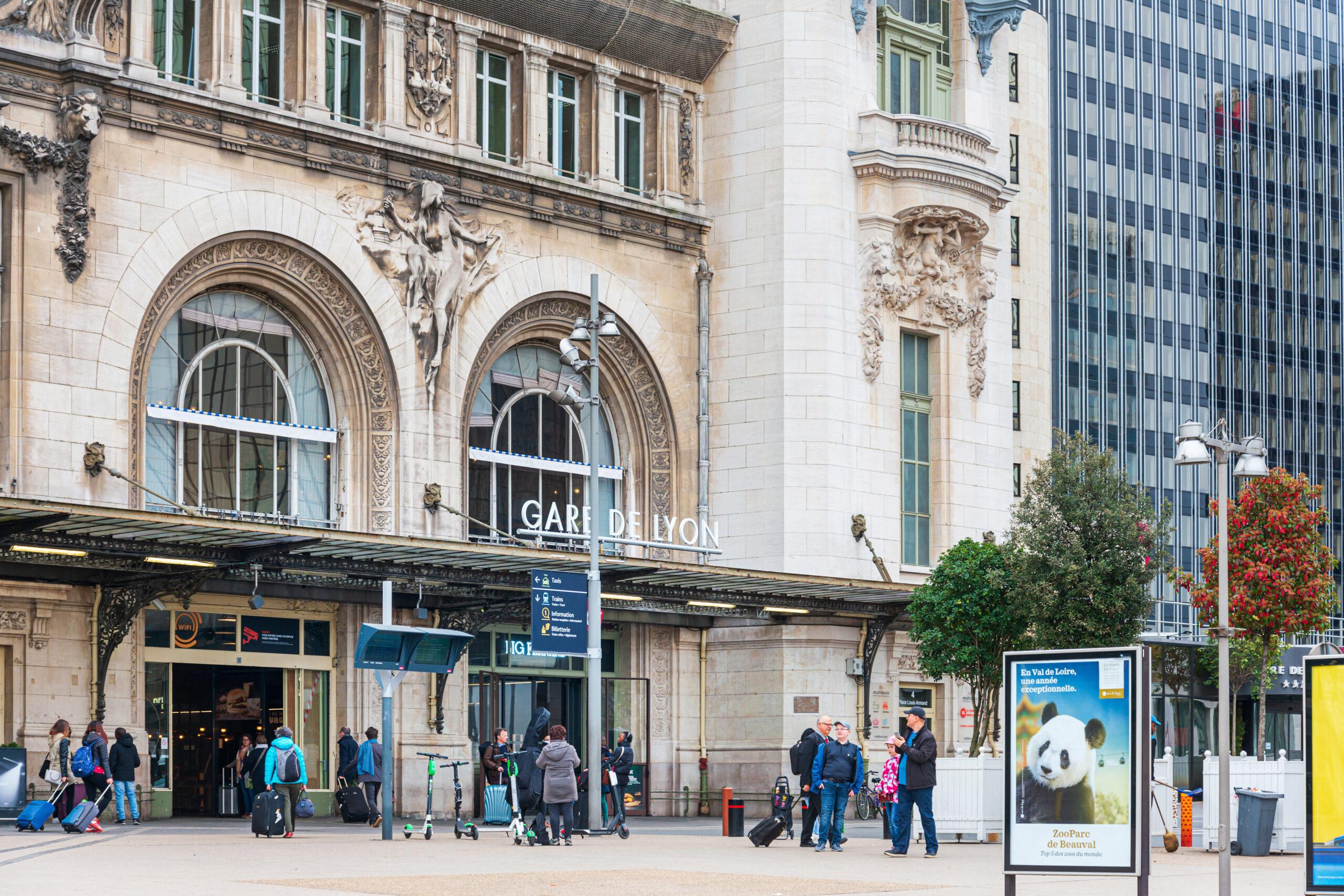 gare de lyon Paris togstasjon tog Frankrike