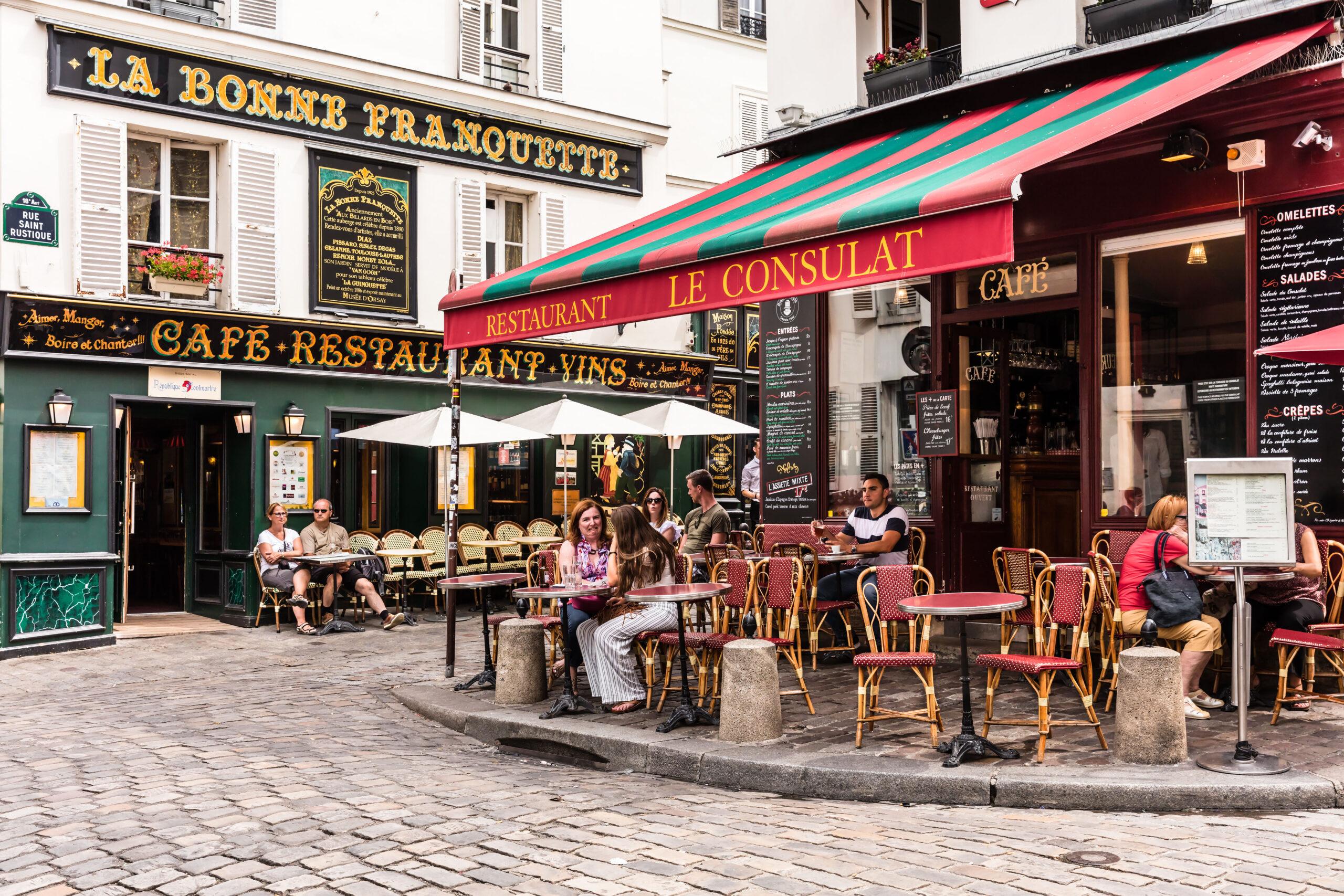 Montmartre restaurant kafe omvisning guide busstur