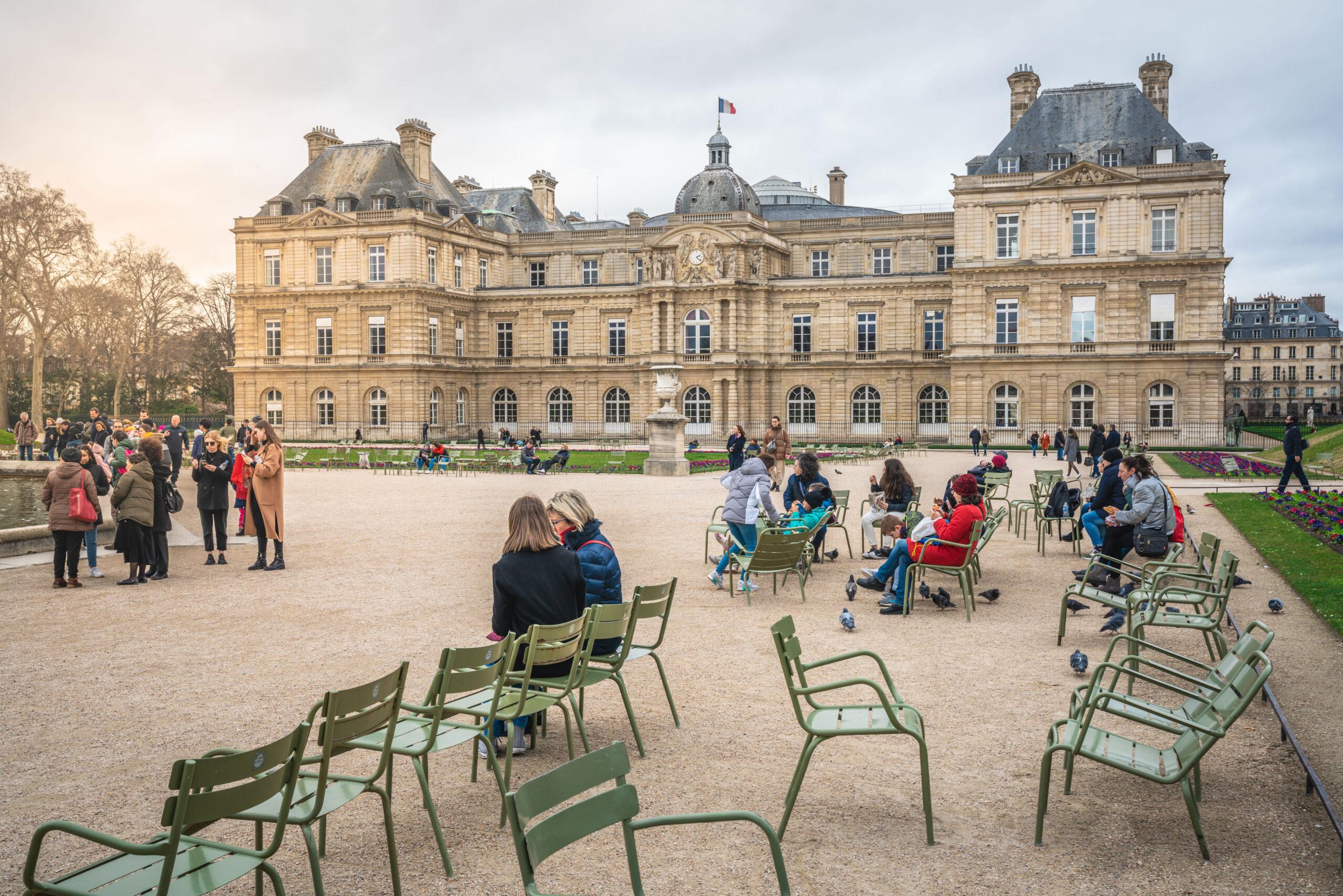 Jardin du Luxembourg Paris gatur slott hage tips anbefalt