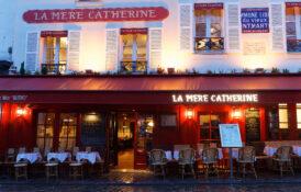 Paris bar restaurant mat drikke kvelden natt brasseri