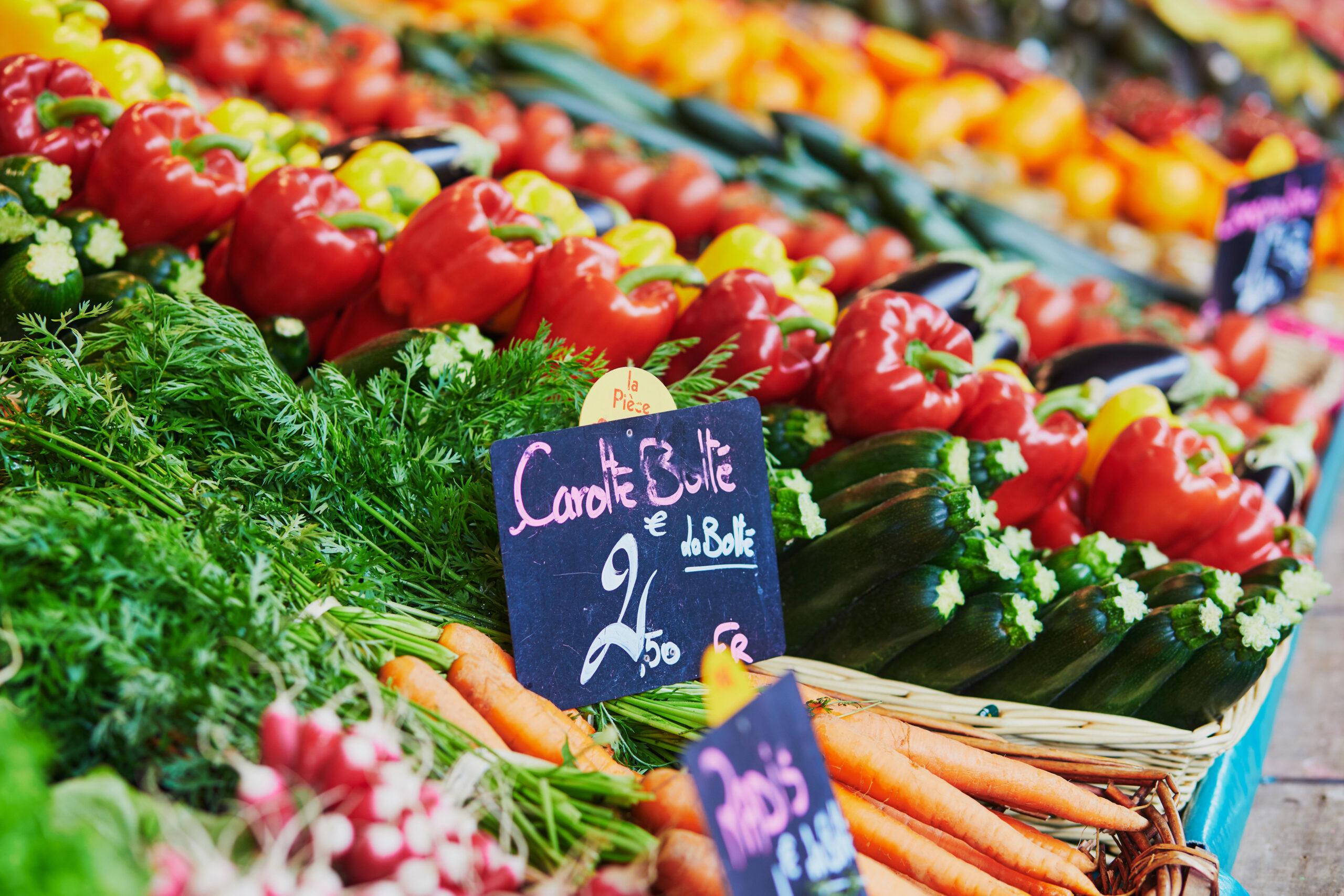 Paris organisk gronnsaker frukt marked matmarked