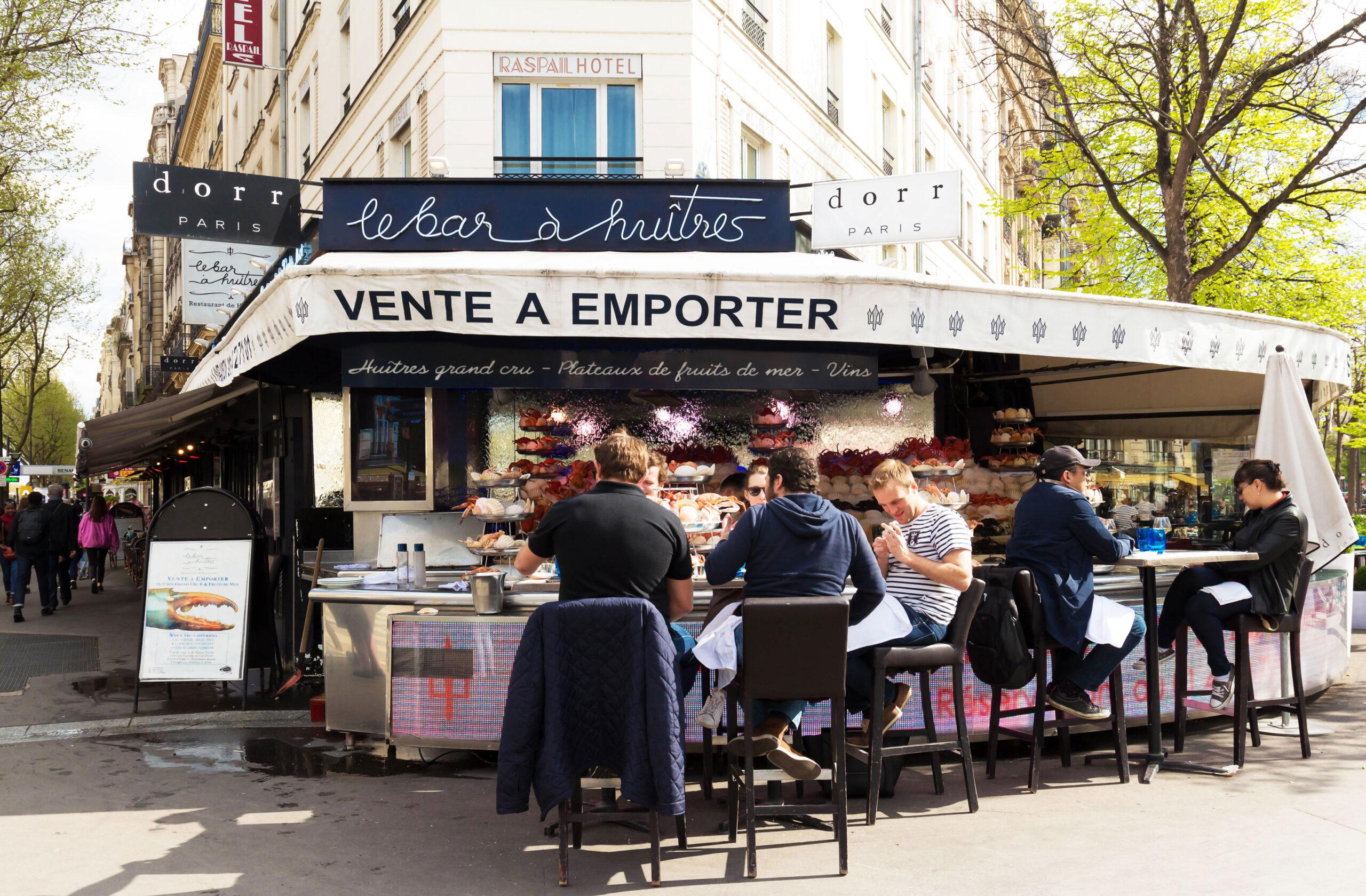 vinbar ostersbar Paris Frankrike restaurant mat drikke