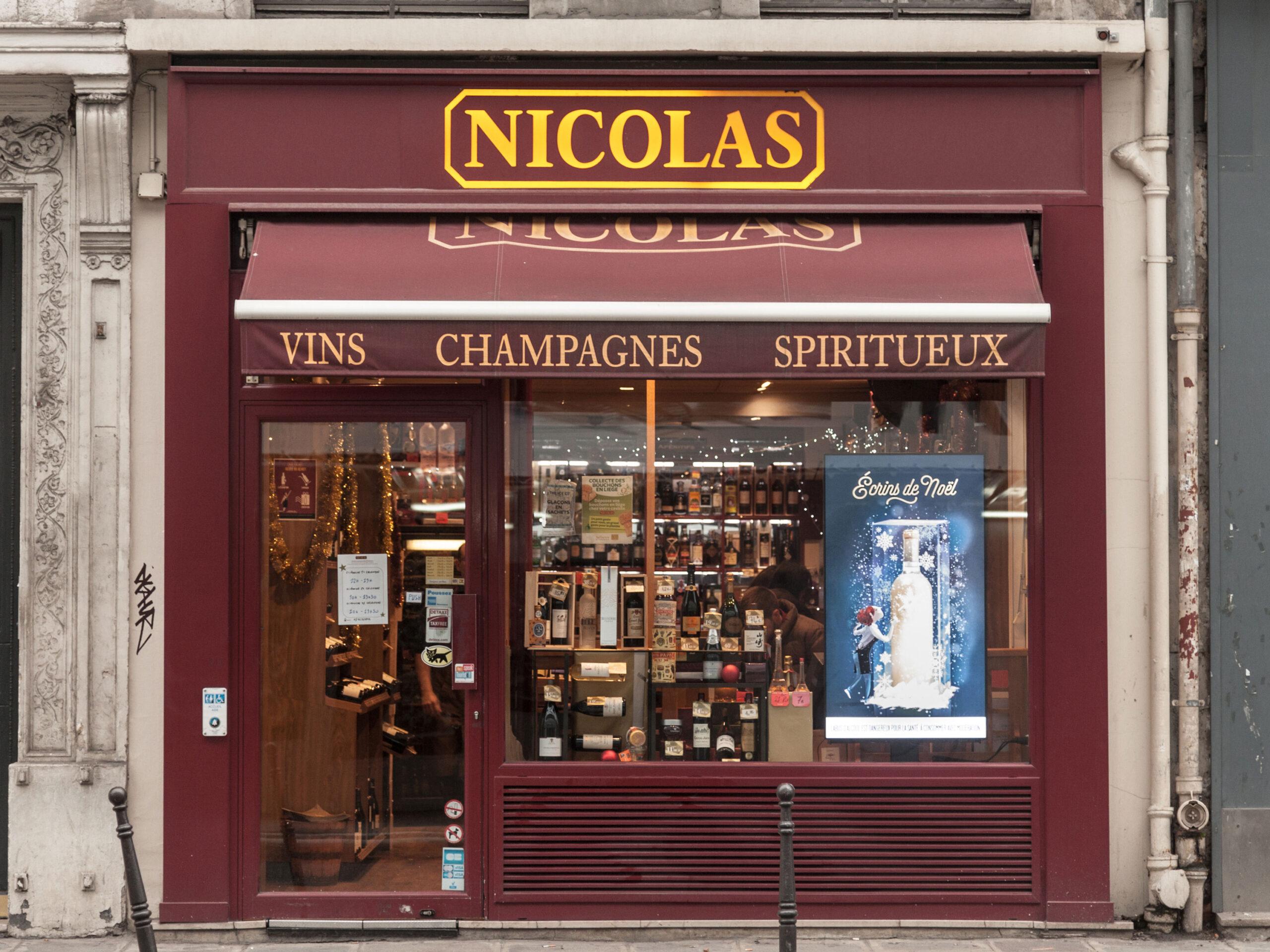 Nicolas vinbutikk Paris